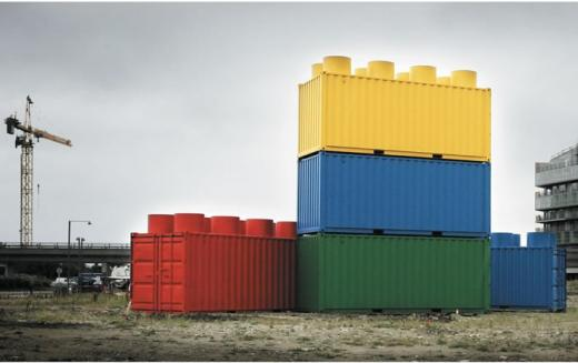 Ambient Marketing - Lego Construction Site