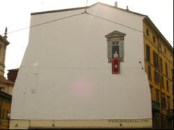 Diesel Wall Milano - Il papa benedice le colonne di S. Lorenzo