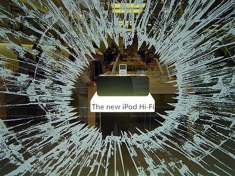 Guerrilla - iPod vetrine rotte