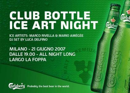 Club bottle Ice Art Night