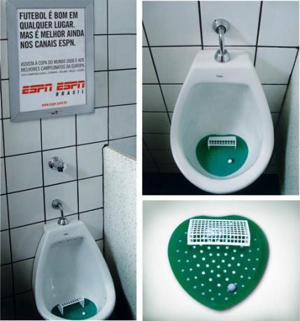 GUERRILLA - Urinal Advertising ESPN