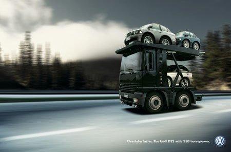 Golf VW R32 Advertising