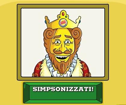 "Burger King e 20th Century Fox: ""Simpsonize Me"""