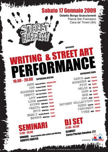 Writing & Street Art Performance