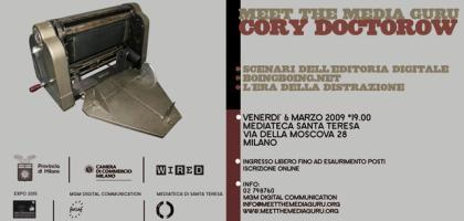 Cory Doctorow a Milano