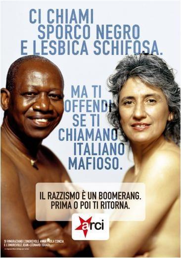 Anna Paola Concia e Jean Leonard Touadì contro il razzismo