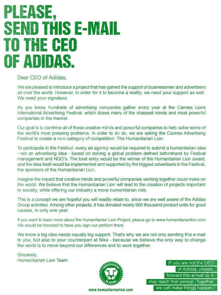 Humanitarian Lions: lettera aperta ai CEO