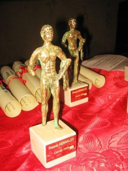 Premio Heracles, nove statuette per i premiati.