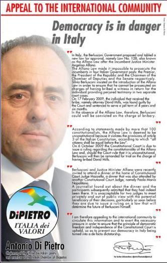 Di Pietro si dà all'Ambush