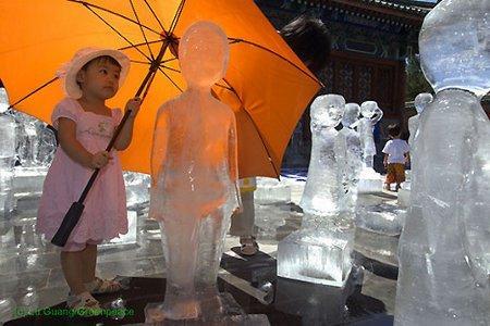 Ambient di ghiaccio per Greenpeace a Pechino bambina