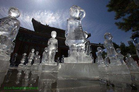 Ambient di ghiaccio per Greenpeace a Pechino