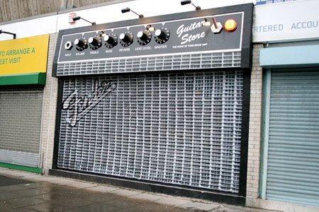 Il marketing del punto vendita The Guitar Store
