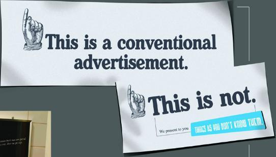 What is unconventional advertising?