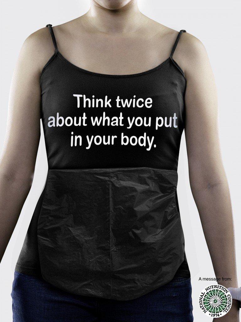 No al cibo-spazzatura nel tuo stomaco