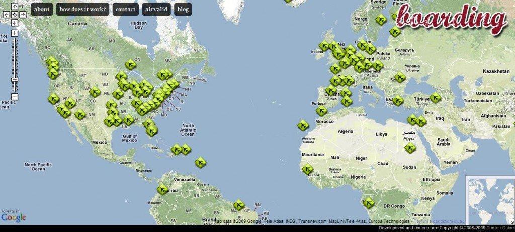 Boarding.fr - il tool di Twitter per non sentirsi soli in aeroporto mappa