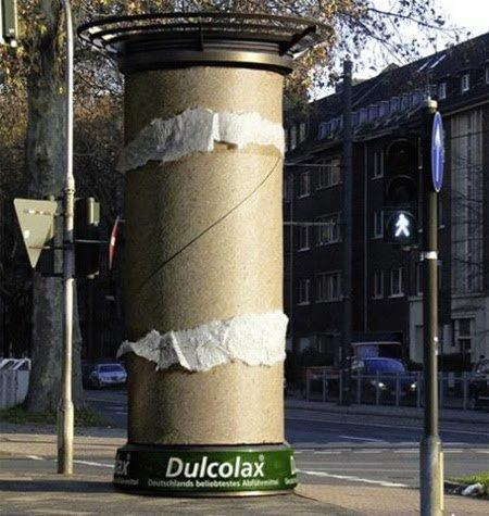 Column advertising