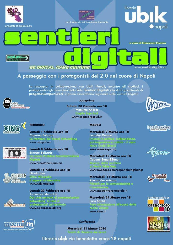 Sentieri Digitali: al via il secondo ciclo di incontri