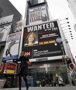 FBI diffonde i nome ricercati attraverso i billboard di Times Square
