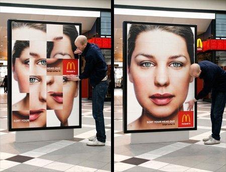 McDonald's e il billboard-puzzle