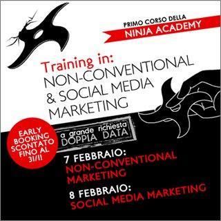 Ninja Academy: si replica! Il 7 e 8 febbraio sarà ancora Non Conventional & Social Media Marketing