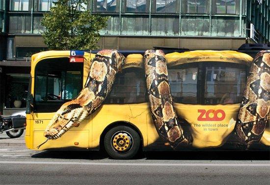 Copenhagen: serpente gigantesco aggredisce autobus