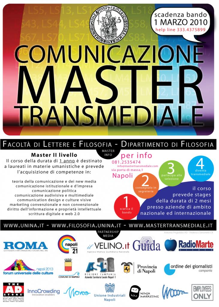 """Master in """"Comunicazione transmediale e di rete"""": aperte le iscrizioni!"""