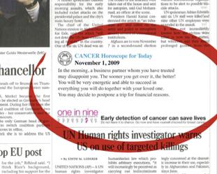 One in Nine: come prevenire il (segno del) cancro