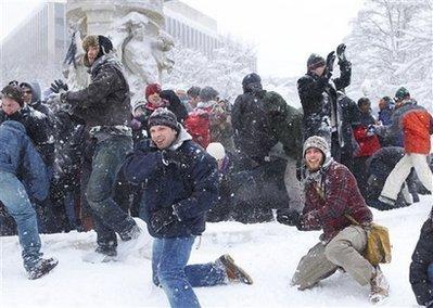 Snow mob: il lato soffice dei flash mob
