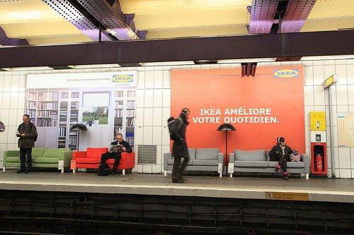 Il Metrovertising di Ikea