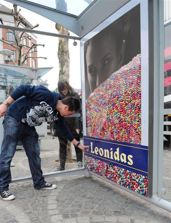 Leonidas: più ovetti mangi, più pubblicità vedi!