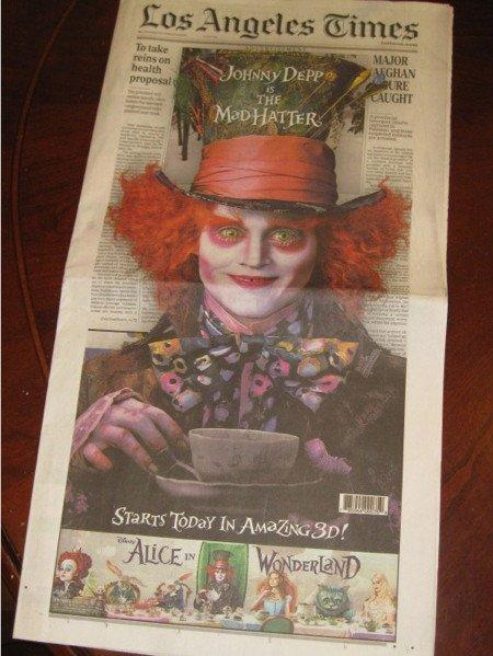 L.A. Times & Alice in Wonderland: il pop up diventa off line