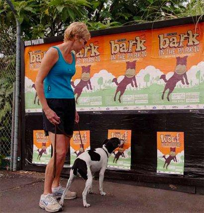 Bark in the park: manifesti per cani e padroni