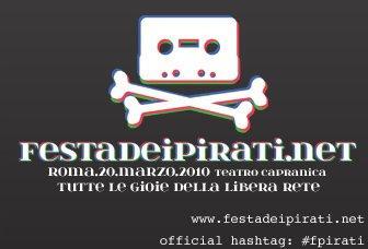 File sharing, net neutrality e anonimato: sabato a Roma la Festa dei Pirati