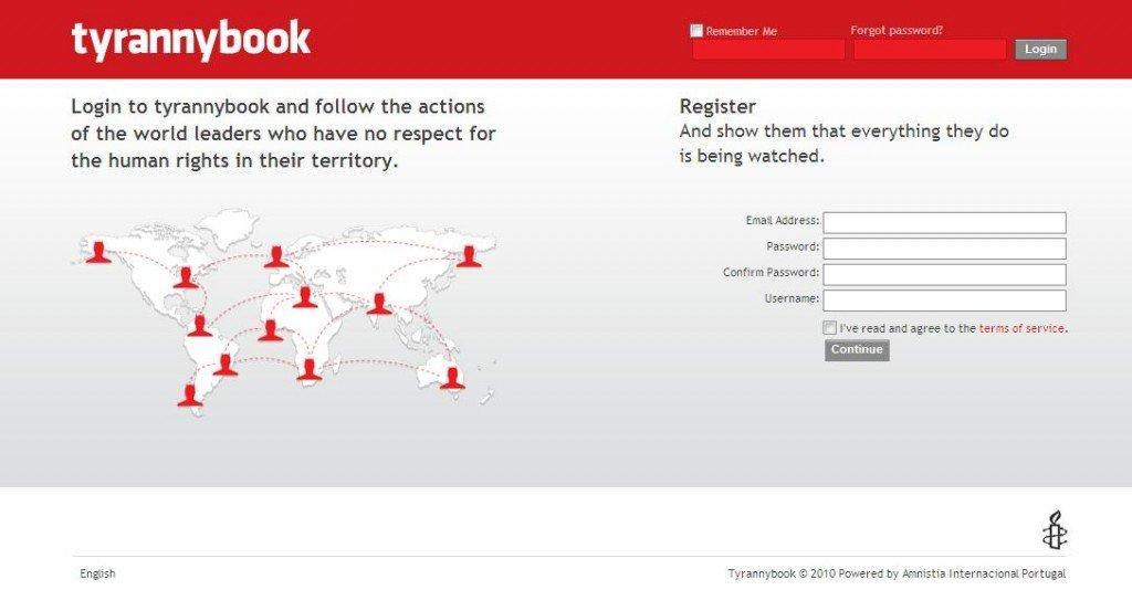 Tyrannybook, il social network per controllare i tiranni