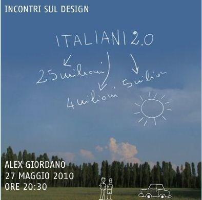 Incontri sul design: domani Alex Giordano a San Marino