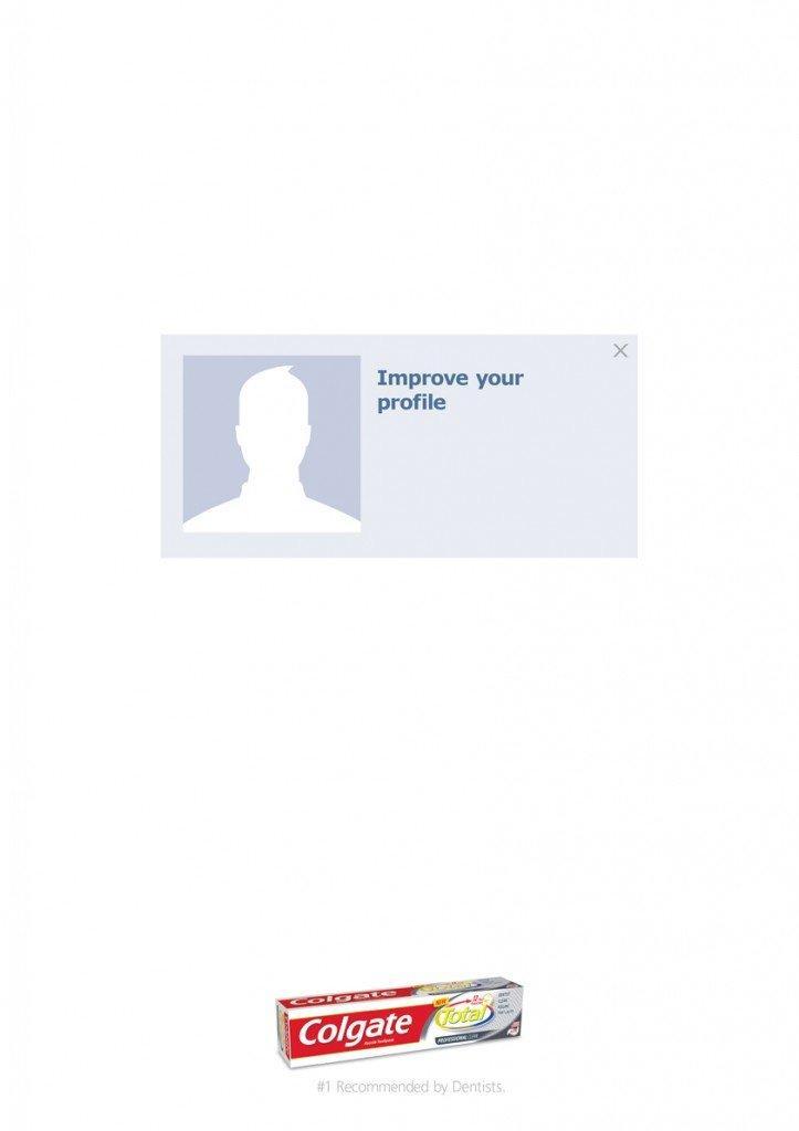 Colgate promette migliori immagini del profilo