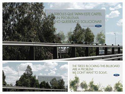 Green advertising per il billboard di Ford