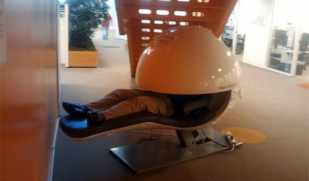 Google e EnergyPod, la capsula del relax