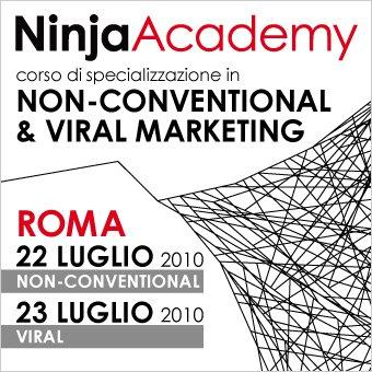 22 e 23 luglio, Roma – Il primo corso italiano in Non-Conventional & Viral Marketing con Ninja Marketing e The Viral Factory