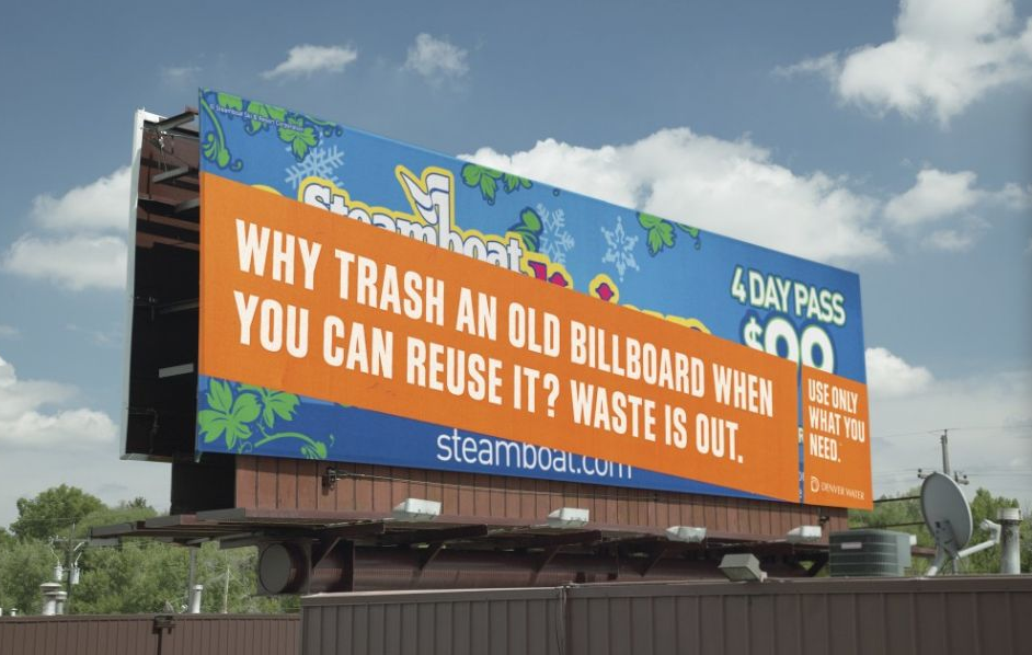 Denver Water e il billboard riciclato