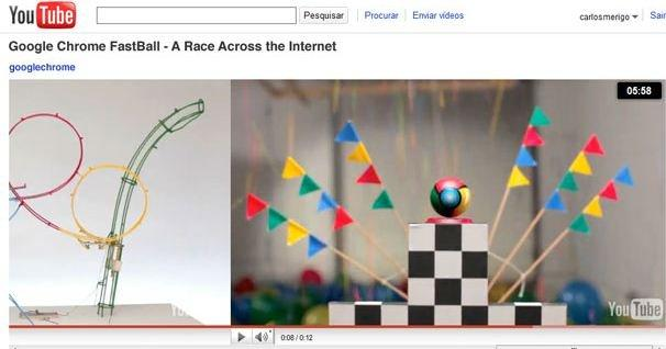 FastBall: un videogame su YouTube per celebrare Chrome
