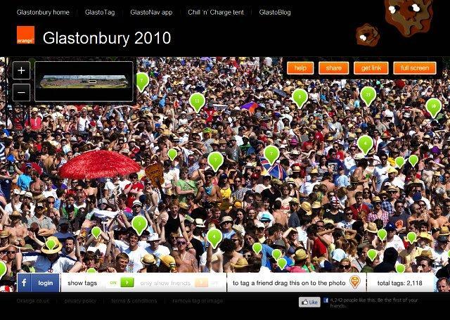 Orange, Glastonbury e il record mondiale di tag in una foto
