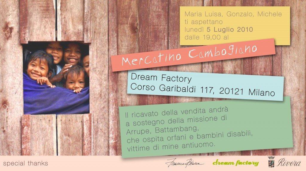 Lunedì Mercatino Cambogiano benefico @ Dream Factory
