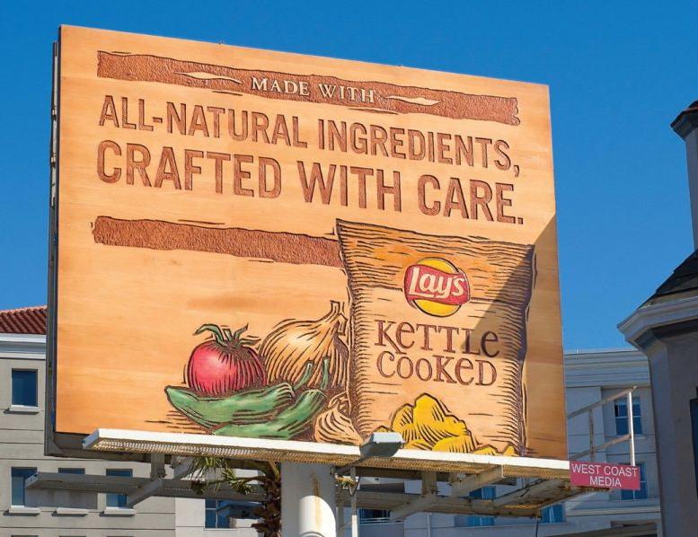 Le patatine sono artigianali, il billboard pure!