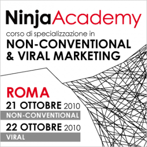 21 e 22 ottobre a Roma, ecco le date del corso in Non-Conventional & Viral Marketing di Ninja Academy