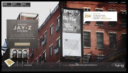 ARG ispirato al libro di Jay-Z utilizza la piattaforma Bing della Microsoft