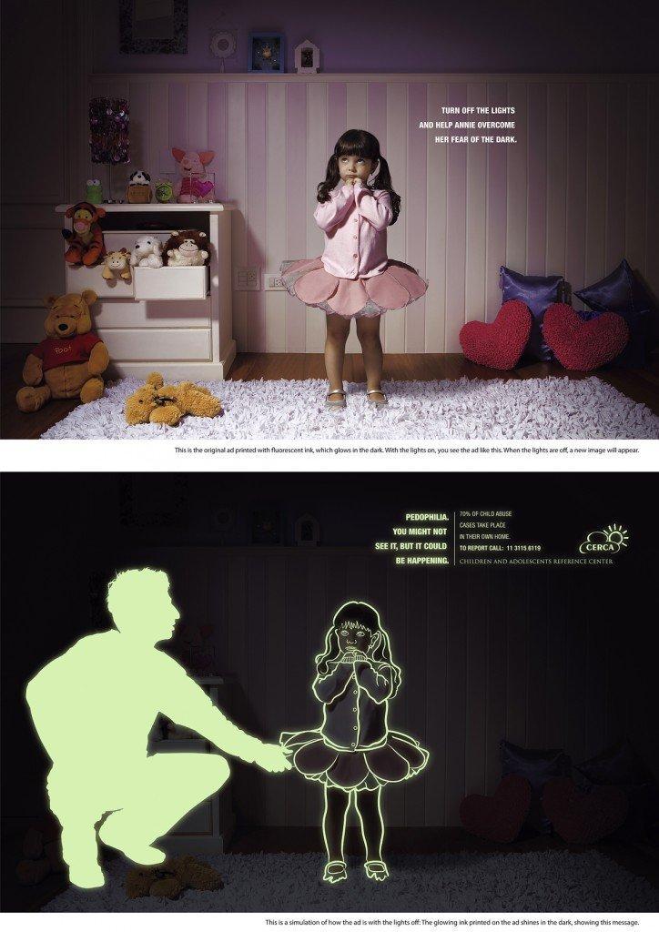 Euro RSCG combatte la pedofilia con un annuncio stampa interattivo