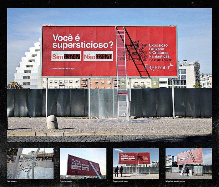 Sei superstizioso? Un billboard interattivo a Lisbona ti mette alla prova!