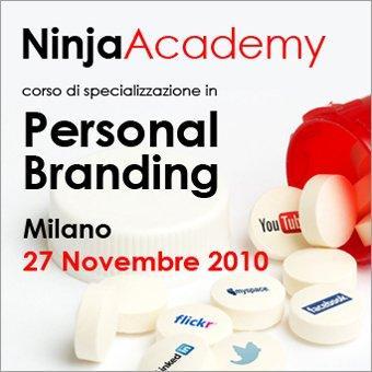 Vinci ingressi gratis e scontati per il corso della Ninja Academy in Personal Branding del 27 novembre