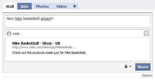 Sharing di un contenuto Nike basketball shoes